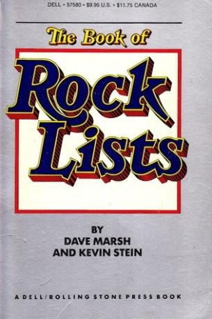 Book of Rock Lists Original