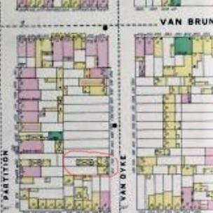 1886 Van Dyke Closeup Sanborn Map McKENNA