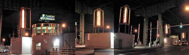 2008 Hamilton Ave Bridge - New Light Sculptures On Median & Control House - NYC DOT ENHANCED
