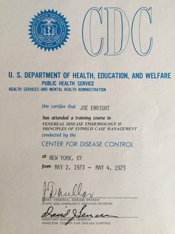 CDC Certificate