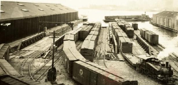 1920 Fulton Street Float Bridge & Car Float in Distance